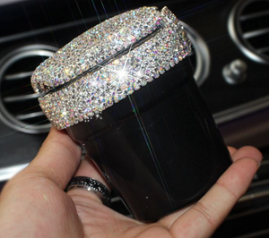 Bling Car Ash Tray - Jet