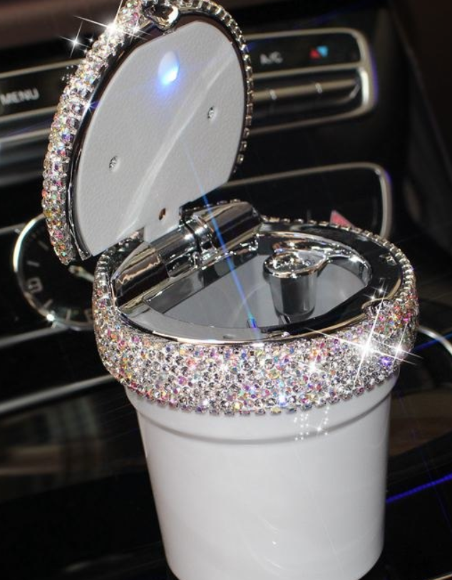 Bling Car Ash Tray - Ice