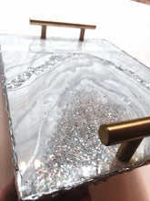 Load image into Gallery viewer, Geode Inspired Rolling Trays - Silver