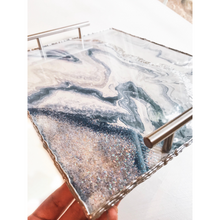 Load image into Gallery viewer, Geode Inspired Rolling Trays - Navy