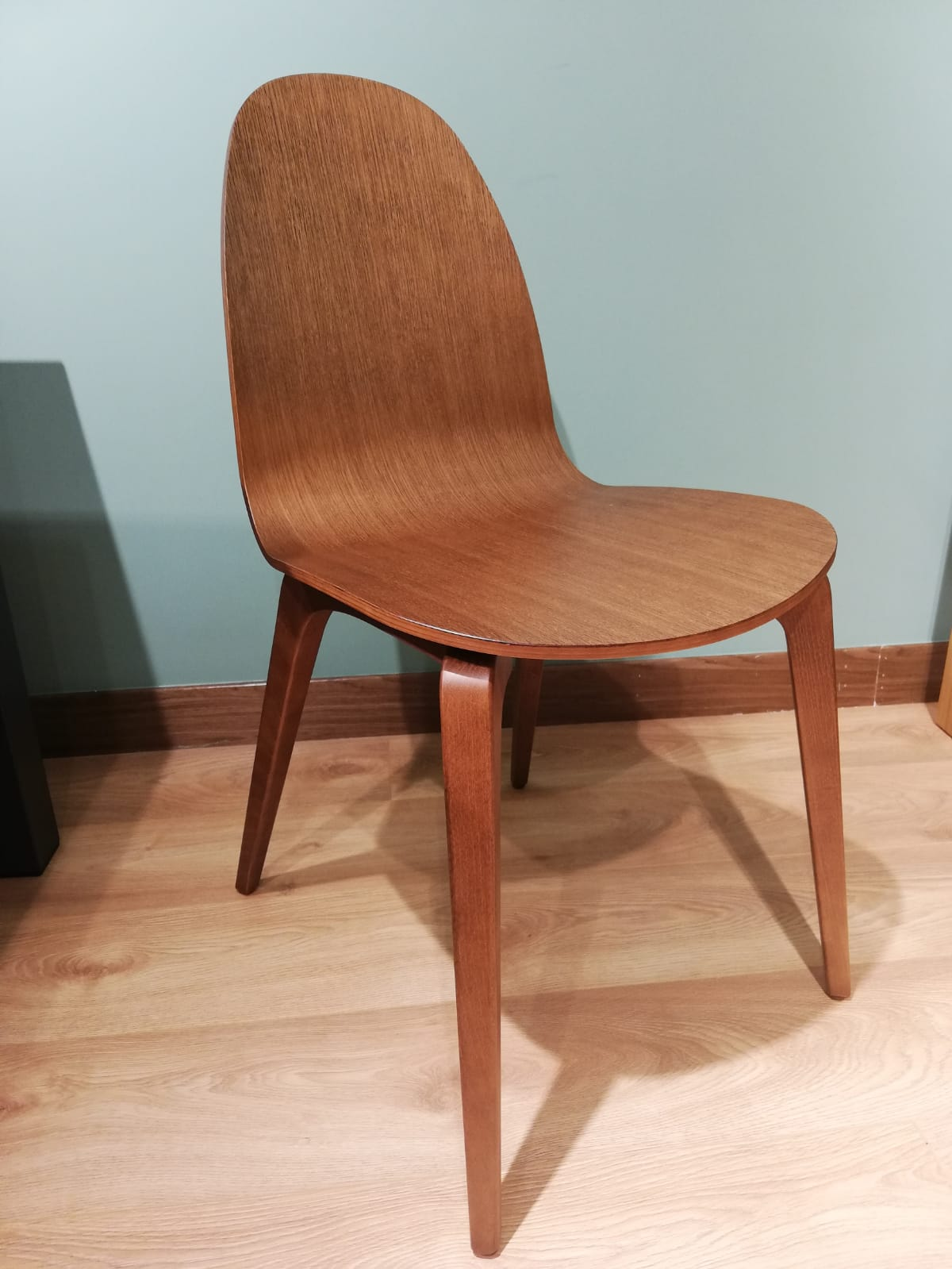 Bob Chair - Stained Oak Seat with Solid Wood Frame