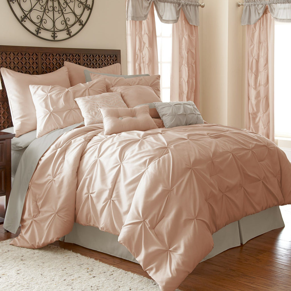 Ella Blush Comforter -24 Piece Set