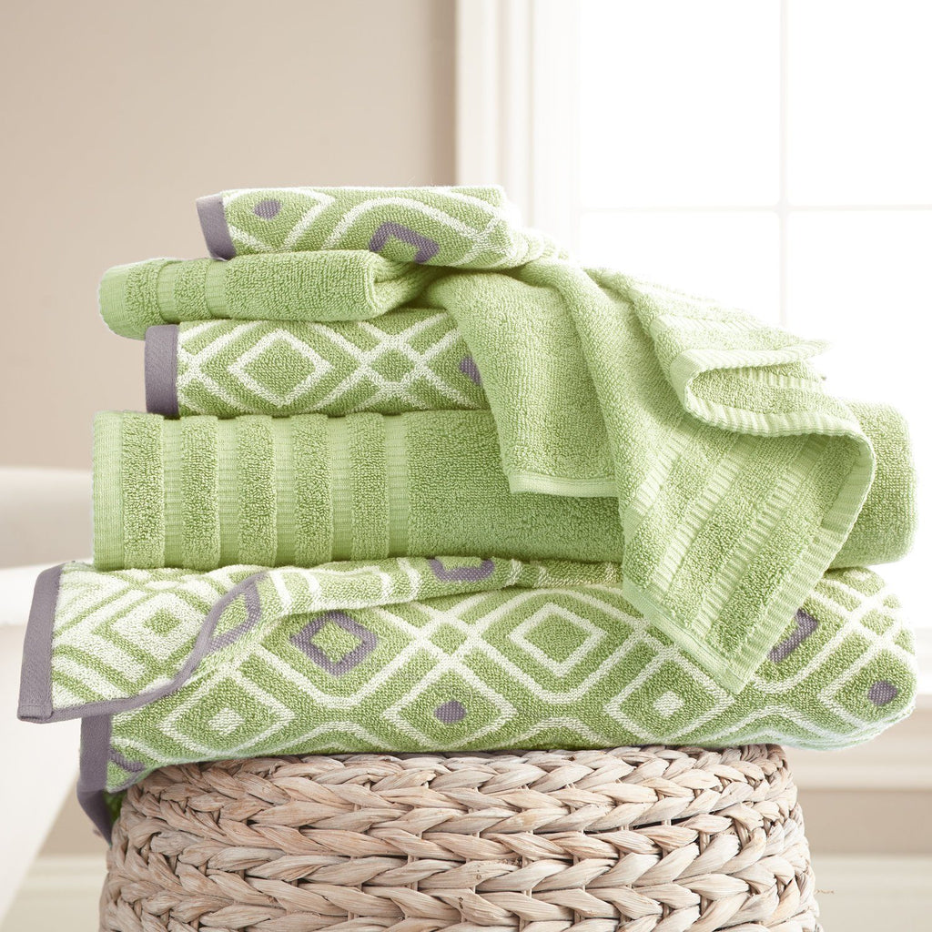 Yarn Dyed Bath Towel Sets Oxford - 6 Piece Set