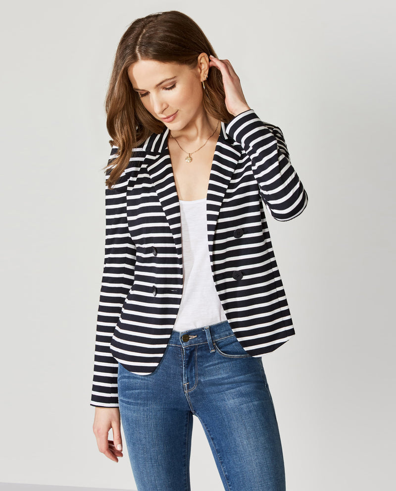 Midnight Chalk Stripe