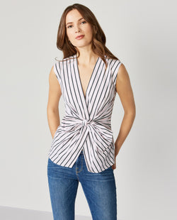 Grey Blush Stripe