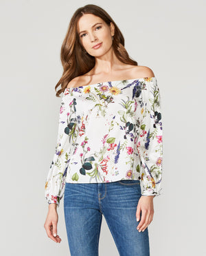 Tarte Tartan Printed Satin Top