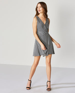 Danish Gingham Chiffon Dress