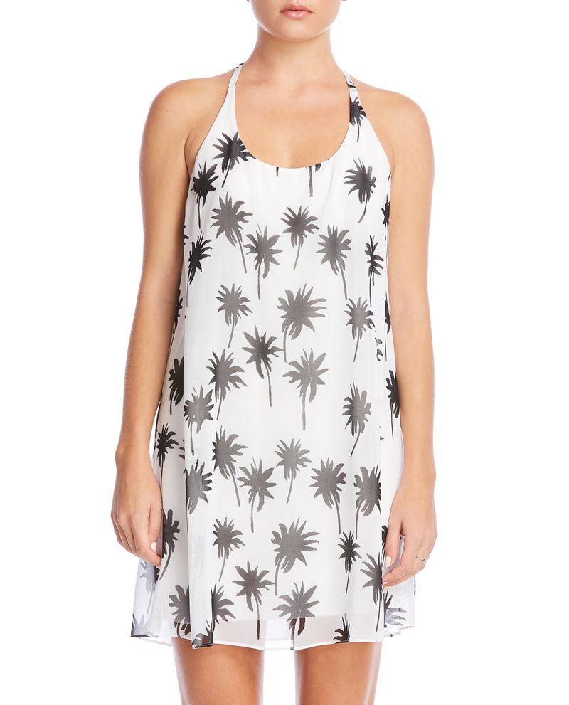 Black and White Palm Print