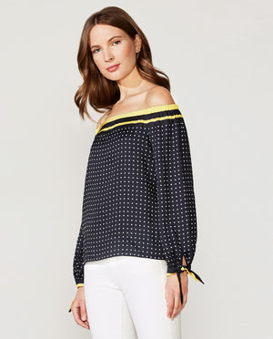 Tabernacle Dot Print Top