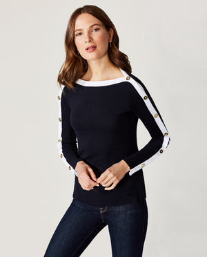 Sailor Sweater Knit Top