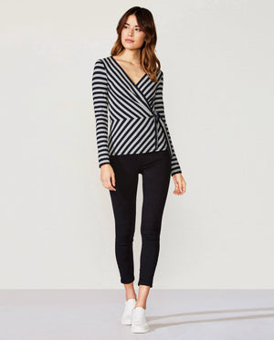 Toe The Line Rib Stripe Top