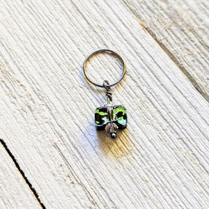 Medium Stitch Markers in Glass or Ceramic Beads