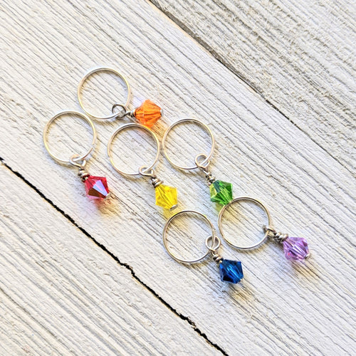 Sets of Project Keepers or Stitch Markers by Southeast Ohio Fiberworks