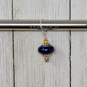 Large Hole Glass Bead Charm Stitch Markers