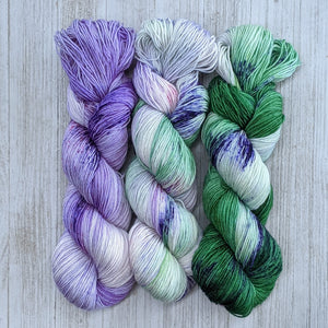 Mermaid Teal or Green and Purple Speckles