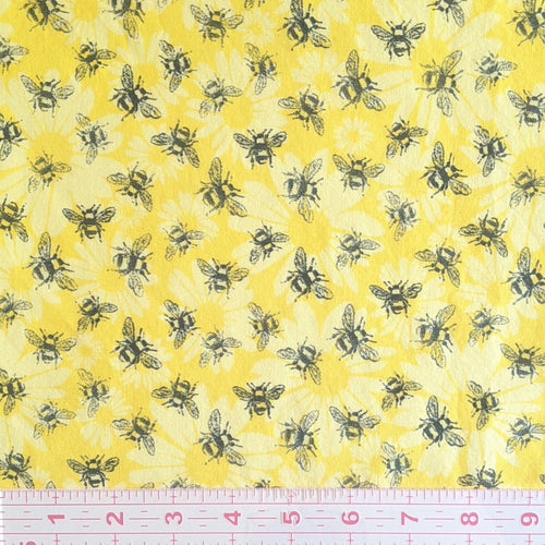 Masks - Bees on Yellow Floral