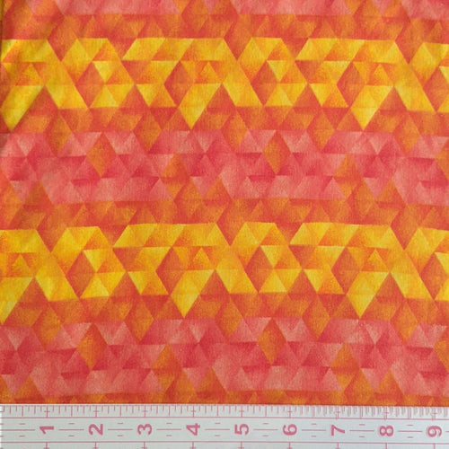 Masks - Yellow and Orange Geometric Triangle Stripes