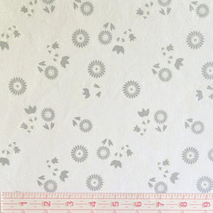 Masks - White and Grey Floral Motifs on Light Grey