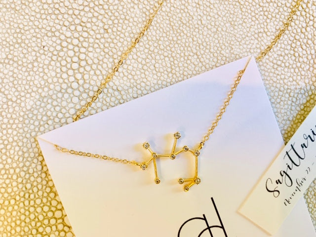 The Zodiac Constellation necklaces are a wonderfully different and clever alternative for personalizing a gift. With it's more subtle symbolism, you can honor the unique personality traits and talents of a friend(or yourself!) that each Zodiac sign repres