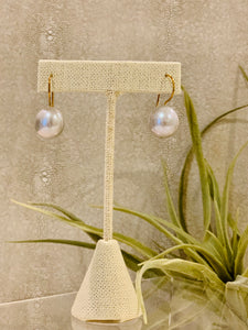 Grey Baroque pearl Drop Earrings