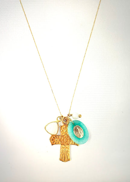 Amazonite Mix Donna Charm Necklace