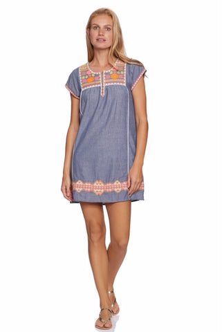 Indigo blue tunic