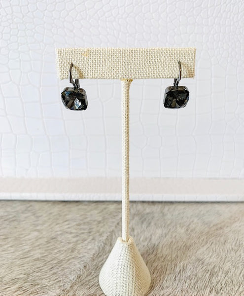 Swarovski Square Earrings