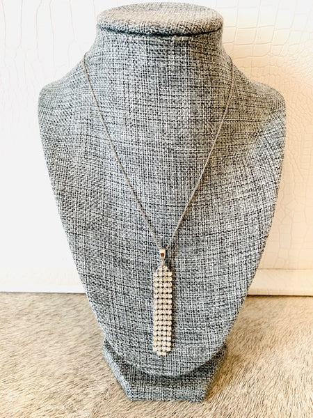 Swarovski mesh necklace