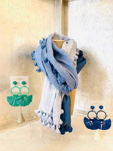 Silk Cotton Tassel Scarf