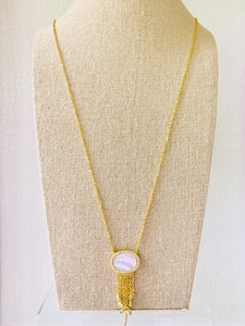Celeste Tassel Gold Necklace