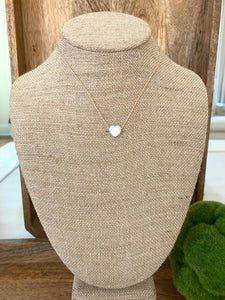 Mother of Pearl little heart necklace