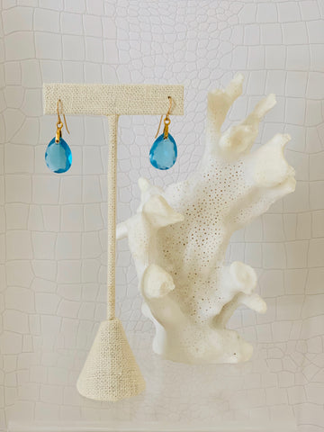 Blue Quartz Teardrop Earrings