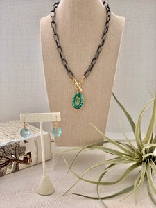 Apatite Large Cushion Necklace