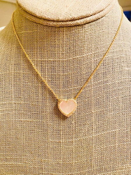 Yuko's Pick             - Heart shaped pendant necklace -