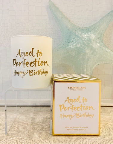 Aged to Perfection Happy Birthday Candle