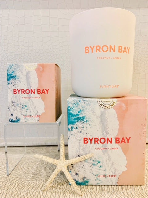 Earth friendly 100% coconut wax, paraffin-free candle BYRON  BAY