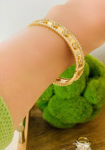 Gold Over Sterling Silver Bracelet