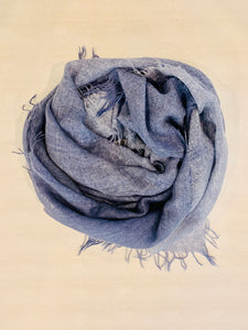 Stone Blue Cashmere Scarf