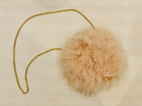 Feather Clutch Bag (Beige)