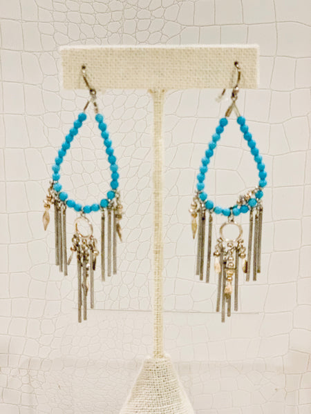Semi prestones earrings