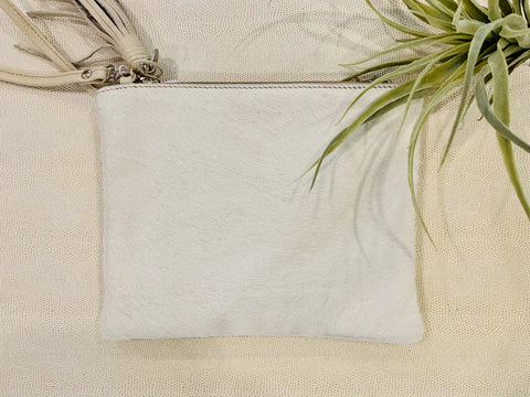 White Cuff Hair Clutch