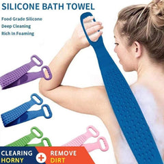 Silicone Bath Towel Exfoliating Body Brush 2 Packs, Easy to Clean