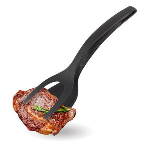 2 In 1 Tongs Grip And Flip Spatula