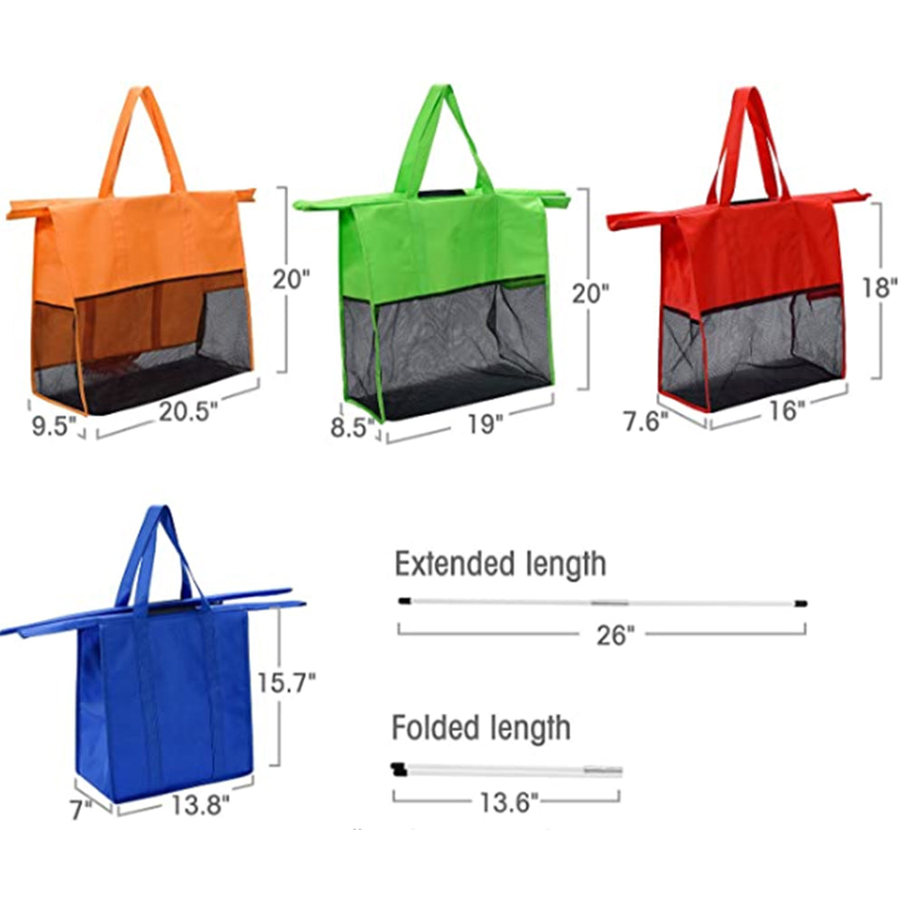 4 in 1 Insulated Shopping Bag, Four Colours