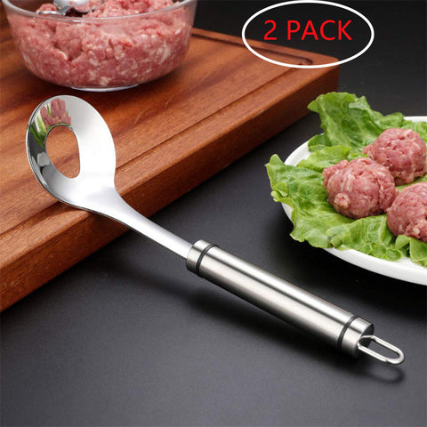2 PACK Non-Stick Stainless Meatball Spoon