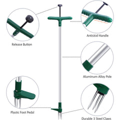 Stand-Up Weeder and Root Removal Tool