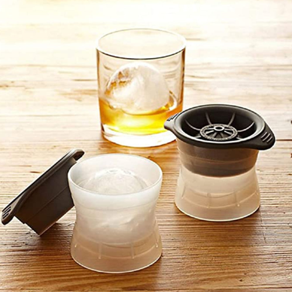 Leak-Free Sphere Ice Mold, Two Packs
