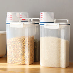 Food Storage Container with Measuring Cup, 2 packs