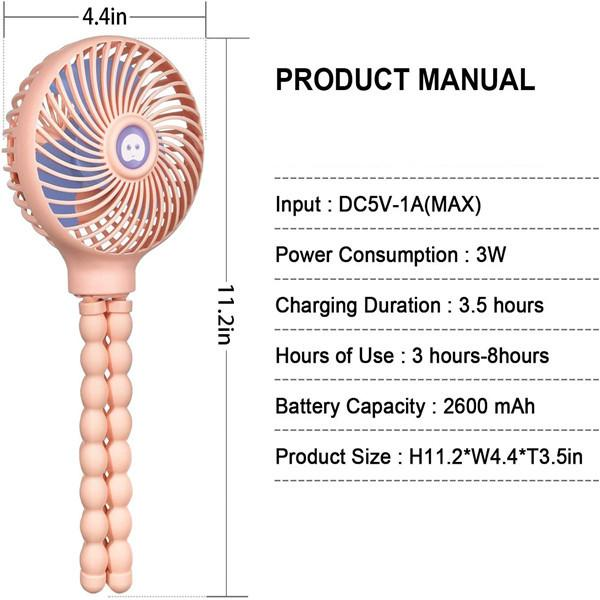 Portable Octopus Handheld Stroller Fan