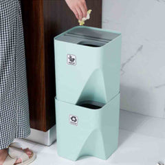 Stackable Sorting Trash Bin, 2 Sizes